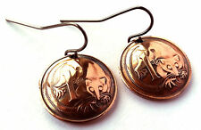 Australia Coin Earrings Copper Colored Jewelry Woman Birthday Gift for Her