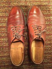 Salvatore Ferragamo Uh13757 pebbl Leather Rubber Sole Casual Oxford Mens Us 9.5D