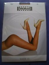 NEW WOLFORD SHEER 15 TIGHTS 18381 X LARGE XL COLOR CARAMEL