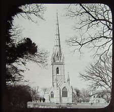 Glass Magic Lantern Slide BODELWYDDAN MARBLE CHURCH C1890 PHOTO WALES