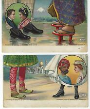 EARLY FEET & SHOES FROM JAPAN & INDIA PICTURE POSTCARDS - 2 DIFF