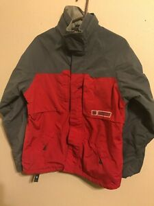 Men's Burton Snowboard Jacket Shell Red Small S Pre owned