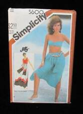 Skirt Zouave Pants Sash Beach Sewing Pattern One Size Misses # 5600 Simplicity