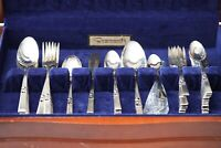 Vintage 53 Pcs Oneida Community Morning Star Silverplate Flatware Service for 8