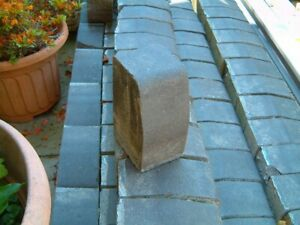 Bradstone block kerb stones in Charcoal