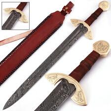 UlfSune Fang Damascus Steel Viking Carolingian Battle Ready Sword