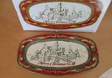 2008 Fitz and Floyd St Nick Sentiment Tray Merry Christmas To All Nib
