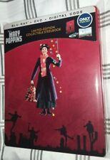 Disney Mary Poppins 1964 - Steelbook (Blu-ray/DVD/Digital) w/ Protective Sleeve