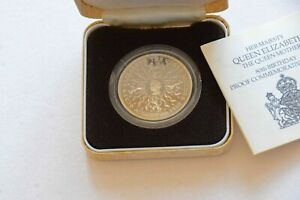 1980 UK ROYAL MINT SILVER PROOF CROWN – QUEEN MOTHER 80th BIRTHDAY