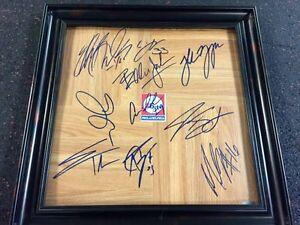 Philidelphia 76ers framed signed autographed 2010 Roster Floorboard set w/ COA