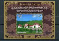 Bhutan 2015 MNH Dzongs of Bhutan 1v S/S Monastic Fortresses Monasteries
