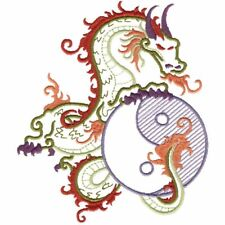 Custom Embroidered Yin Yang Dragon Bath Hand Towel Set