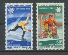 [P1127] St Pierre Miquelon 68 olympics good set VF fine MNH stamps value $30