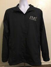 Nike Golf Jacket Gray Men Size Medium Zip Up Wind Athletic Polyester Long Sleeve