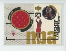 MICHAEL JORDAN GAME-USED JERSEY PATCH 1998-99 UD UPPER DECK GAME JERSEY SP BULLS