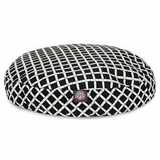 Black Bamboo Medium Round Indoor Outdoor Pet Dog Bed With Removable Washable .