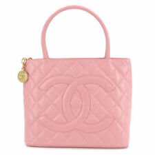 CHANEL Caviar Skin Medallion Tote Bag Leather Pink A01804 Purse 90114413