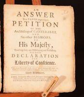 1688 2vol Glorious Revolution Petition Sancroft Six Bishops James II