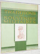 TRADITIONS SOUVENIRS MILITAIRES N°1 1943 FRANCHET D'ESPEREY LARREY MAI-JUIN 1940