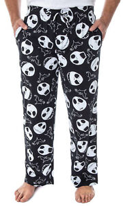 Disney Nightmare Before Christmas Men's Jack Bats Cotton Pajama Pants