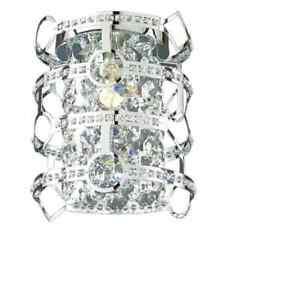 Style Selections Kentley 7-in W 1-Light Chrome Pocket Wall Sconce 26990-019
