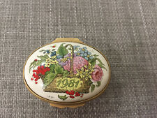 Vintage Halcyon Days Enamels Dated Trinket Box Batterse A Year To Remember 1981