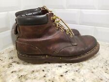 Vintage Dr Doc Martens Mens UK 11 US 12 Brown Leather Boots Made In England