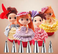 7PCS Pastry Flower Icing Piping Nozzles Tips Stainless Steel Cake Baking Tool