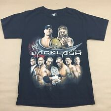 WWE Backlash 2009 Cena Edge Triple H Raw Smackdown Small Wrestling Black T-Shirt