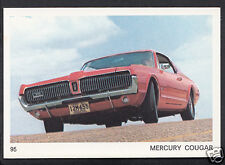 Americana Munich 1970 Card - Motor Cars - No 95 - Mercury Cougar