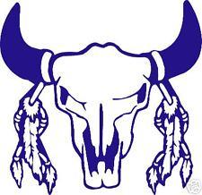 buffalo skull  / vinyl sticker / cowboy bison decal