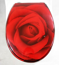 1 Set Rose Flower Accessories Safety Resin Toilet Seat Nice Decoration Best Gift