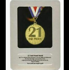 New in Bag 21 AND PROUD Award Medal Framed in a Tin Case