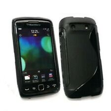 Negro Gel Hybrid Funda Piel Para Blackberry Torch 9860 Tpu-En Stock-Reino Unido