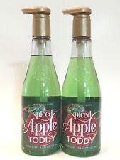 Lot 2 Bath & Body Works Spiced Apple Toddy Hand Soap Wash Wine Bottle 9.5 Fl Oz