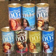 James Bond 007 Replica / Novelty beer cans, complete set of 7, paper label