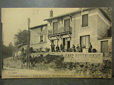 cpa 69 grigny café de la gare wagner proprietaire animee