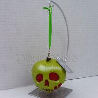 Disney Parks Snow White and the Seven Dwarves Evil Queen Poison Apple Ornament