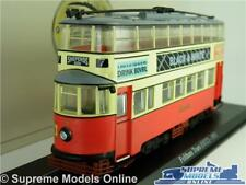 METROPOLITAN FELTHAM TRAM LONDON BUS MODEL 1:76 SIZE RED CORGI OOC 4648102 K8