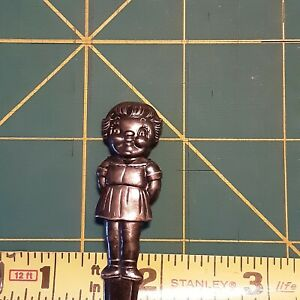 Vintage Campbell Soup  Girl Spoon For Child International Silver Co Silver Plate