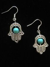 Silver Plated Turquoise Costume Earrings