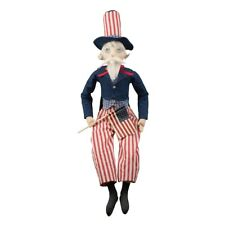 """Joe Spencer Uncle Sammy Gathered Traditions Large Patriotic Fabric Doll New 32"""""""