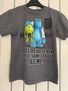 """Boys Grey """" Monsters Inc """"T Shirt from Disney to fit age 4"""