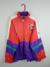 VTG RETRO BRIGHT BOLD ATHLETIC SPORTS HUMMEL TRACKSUIT TOP SHELLSUIT JACKET XL