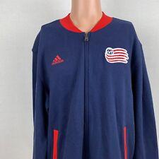 New Adidas New England Revolution SMU Track Jacket MLS Soccer Full Zip Size XL