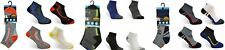12 Pair Mens Multi Coloured Trainer Ankle Socks Breathable Quick Dry Quality