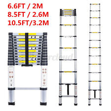 10.5ft 8.5ft 6.5ft Folding Multi Purpose Telescopic Extension Ladder Aluminium