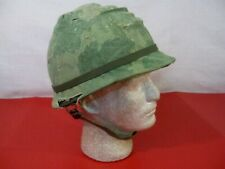 Vietnam Era M1 Ground Troop Helmet Complete w/Liner & Mitchell Cover Dtd 1969 #3