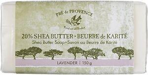 Pre de Provence, 20% SHEA BUTTER LAVENDER (150g /5.2oz) Body Care Soap - France
