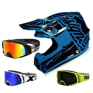Troy Lee Designs SE4 Factory Mips Crosshelm Mips TWO-X Rocket Motocross Goggles